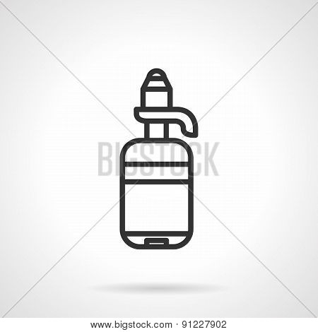 Water cooler bottle line vector icon