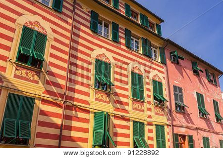 Italian architecture of Monterosso town, Liguria