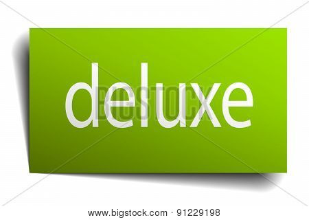 Deluxe Green Paper Sign On White Background