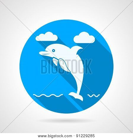 Dolphin flat vector icon