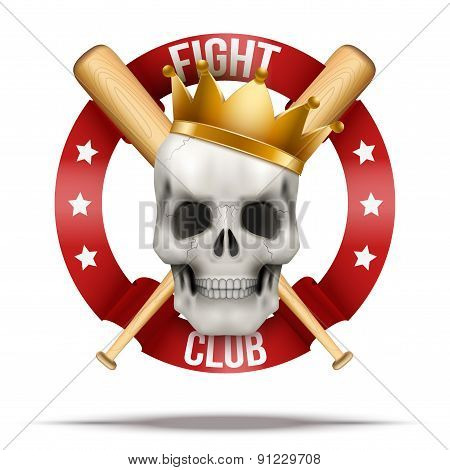 Fight club or team badges and labels logo