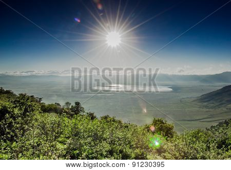 View Of Ngorongoro Crater From The Rim