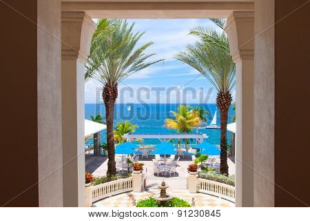 Outside terrace with stunning panoramic view