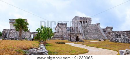 Mayan ancient temple. Cancun, Mexico.