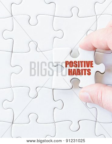 Last Puzzle Piece With Words  Positive Habits