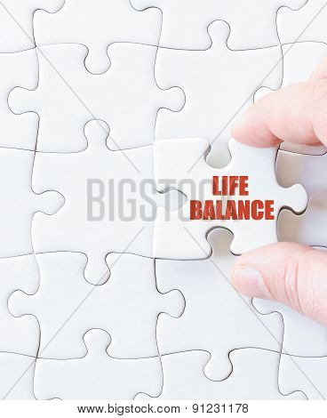 Last Puzzle Piece With Words  Life Balance