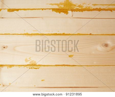 Surface covered with wooden boards