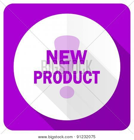 new product pink flat icon