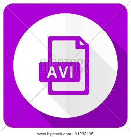 avi file pink flat icon