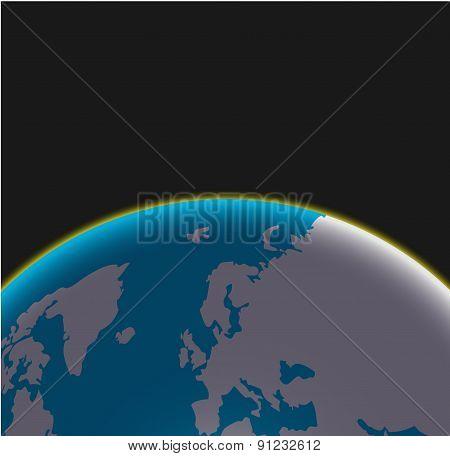 Vector modern earth  background.