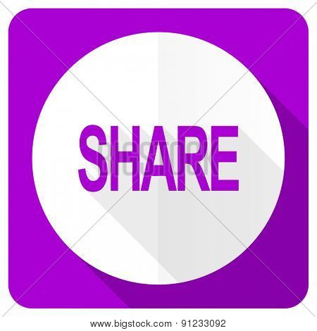 share pink flat icon