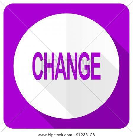 change pink flat icon