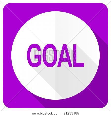 goal pink flat icon