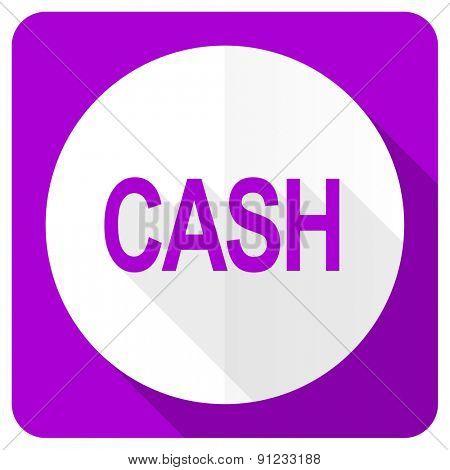 cash pink flat icon