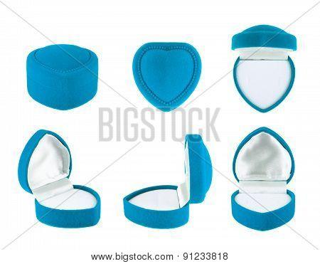 Heart shaped velvet box for the ring