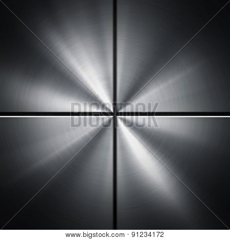 metal with rays background