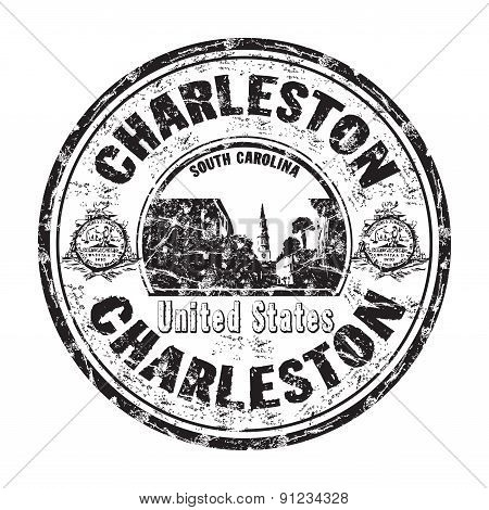 Charleston grunge rubber stamp
