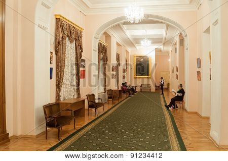 Interior Of Rose Foyer At Moscow Conservatory