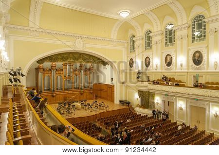 Grand Concert Hall Interior At Moscow Conservatory