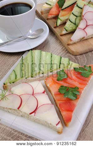 Variety Of Vegetable Sandwiches