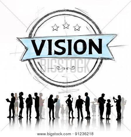 Vision Inspiration Aspiration Target Dreams Concept