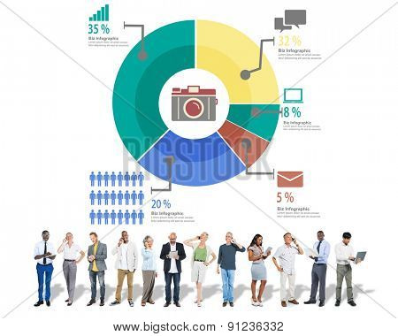 Analysis Analytic Marketing Sharing Graph Diagram Concept
