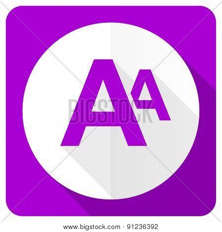 alphabet pink flat icon