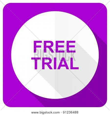 free trial pink flat icon