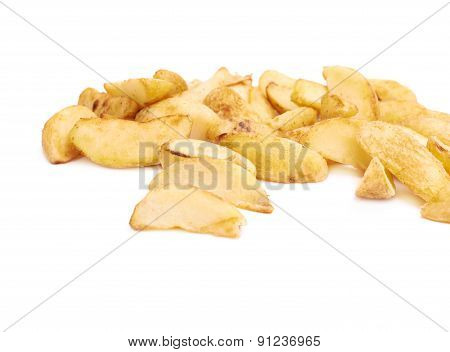 Pile of multiple oven baked fries chips