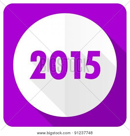 new year 2015 pink flat icon new years symbol