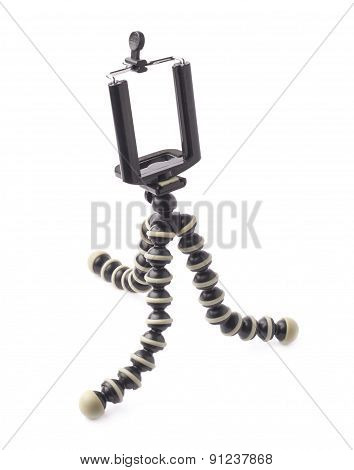 Mobile camera flexible tripod isolated