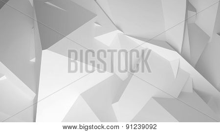 3D Chaotic Polygonal Surface Background Texture