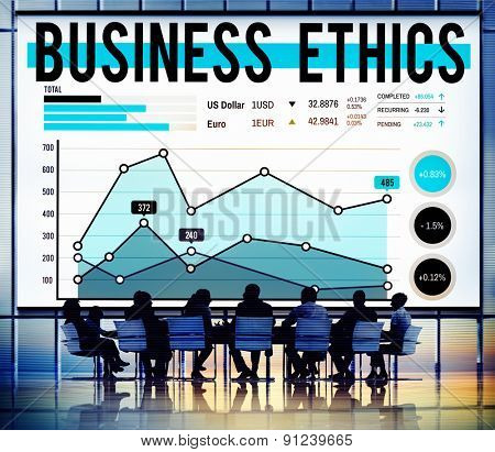 Business Ethnics Honesty Policies Progress Concept