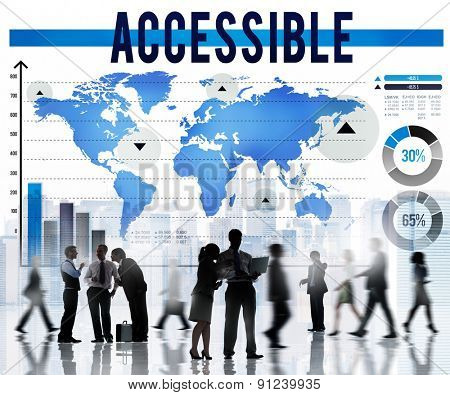 Accessible Attainable Available Open Usable Concept