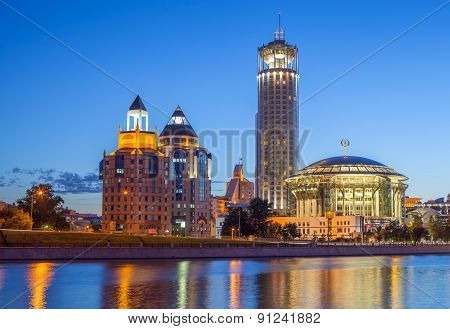 Business Complex Riverside Towers, Krasnye Holmy Hotel And Moscow International House Of Music