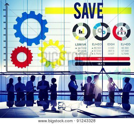 Save Saving Accounting Financial Banking Concept