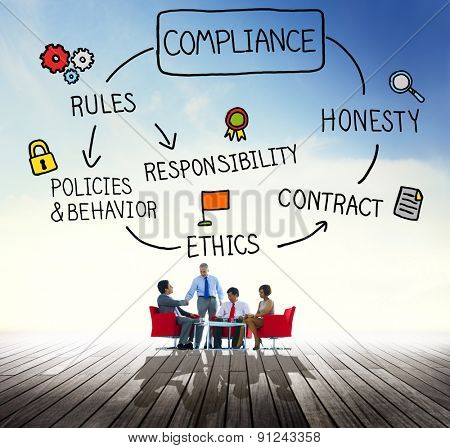 Compliance Rules Responsibility Legal Agreement Concept