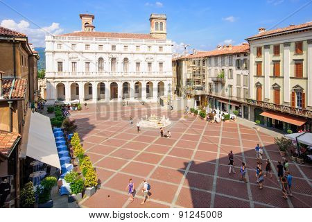 Piazza Vecchia In Bergamo