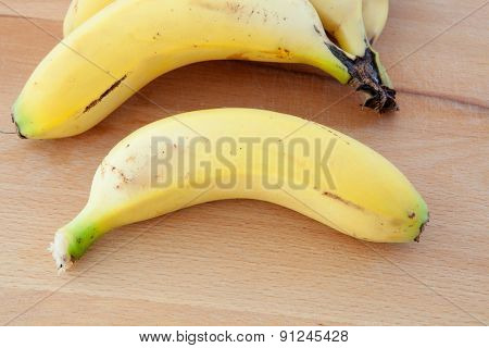 Photo of juicy and energy fruit, banana