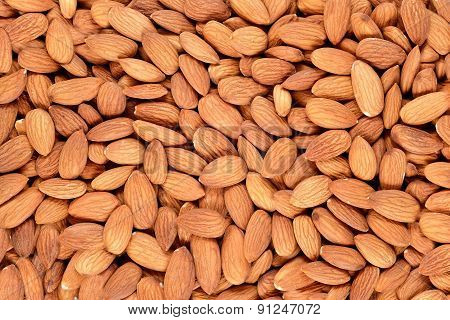 Peeled Almonds Background