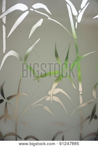 bamboo screen on window