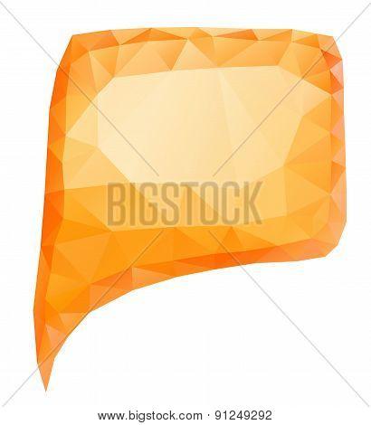 Geometric Orange Bubble icon speech