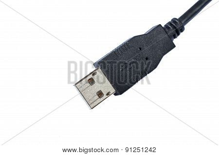 Close Up View Of Usb Connector