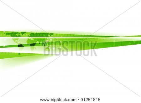 Abstract green white tech corporate background. Vector design