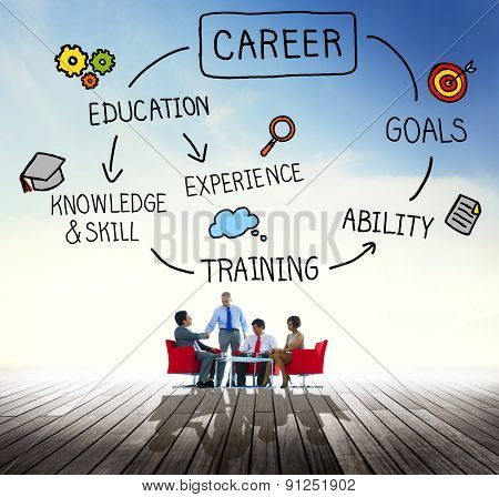 Career Job Goal Expertise Skill Talent Concept