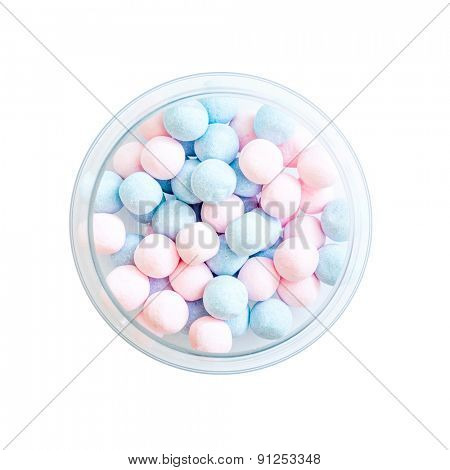 candies on a wooden background with space for text