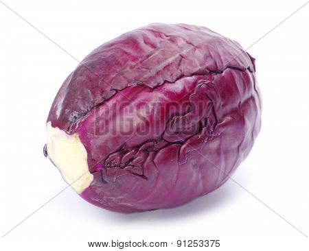 A head of purple cabbage