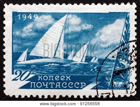 Postage Stamp Russia 1949 Regatta, Sport