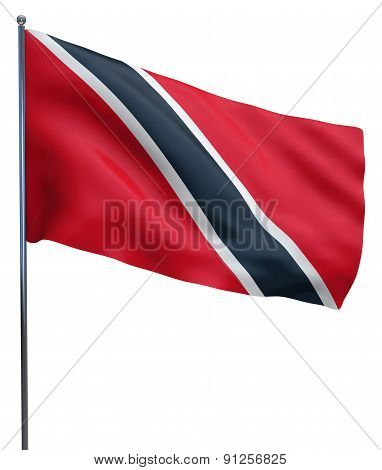 Trinidad And Tobago Flag Waving