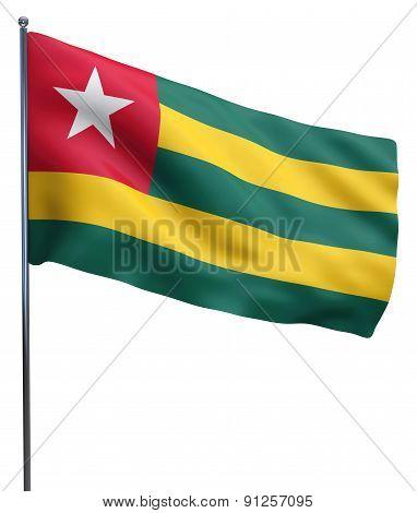 Togo Flag Waving